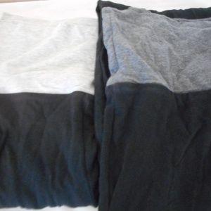 Lot of 2 Black / Grey Size M (7-9) yoga pants
